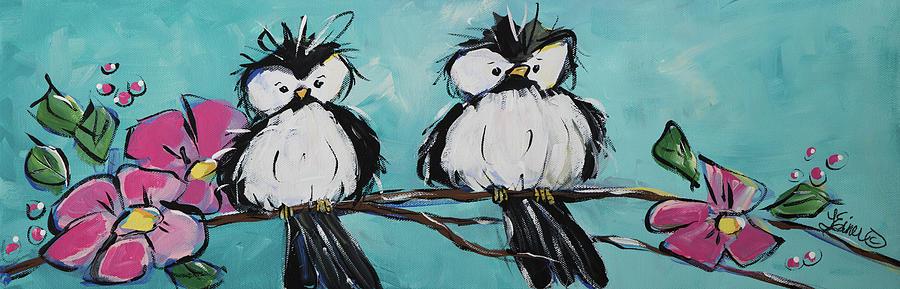 Chickadee Twins by Terri Einer