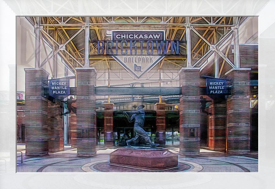 Ballpark Photograph - Chickasaw Ballpark - Bricktown - O K C by Debra Martz