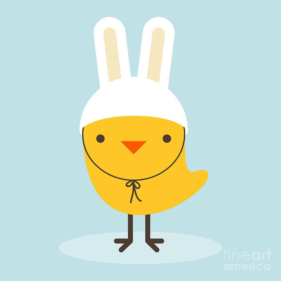 Small Digital Art - Chicken Rabbit by Gaba Duran