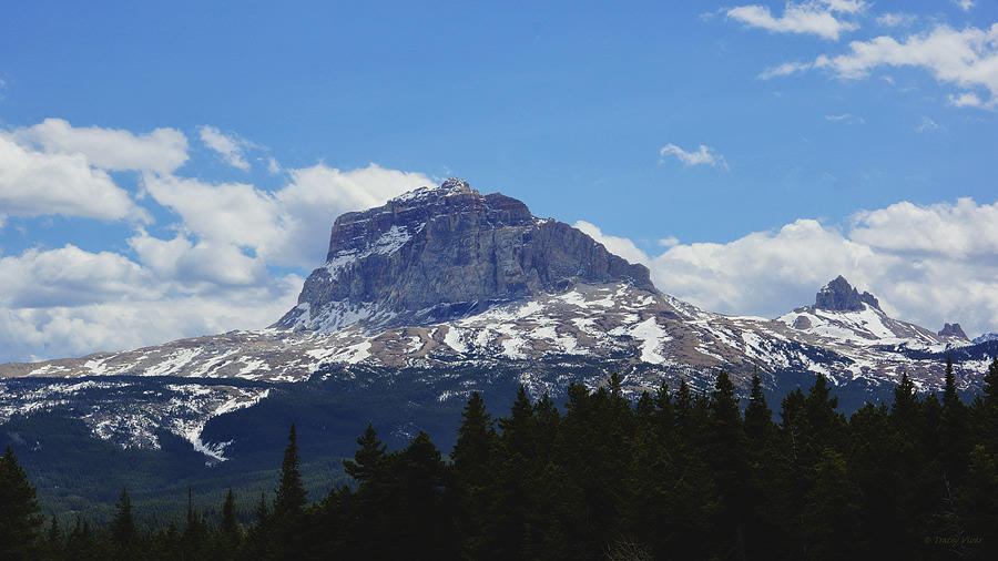 Chief Mountain, Spring, Canadian View by Tracey Vivar