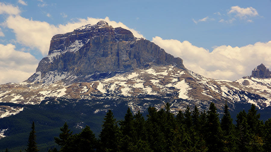 Chief Mountain, Spring, North-side by Tracey Vivar