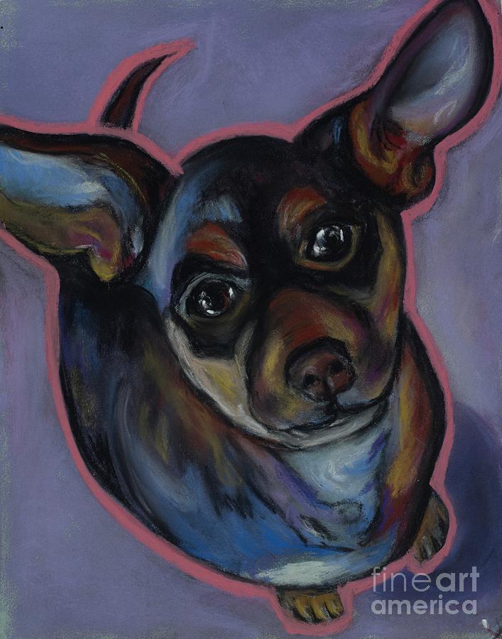 chihuahua Wow Wow Pastel by Ann Hoff