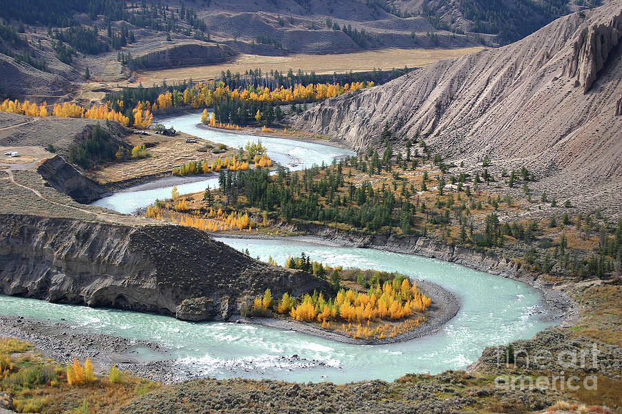 Chilcotin River in Farwell Canyon BC by Robert C Paulson Jr