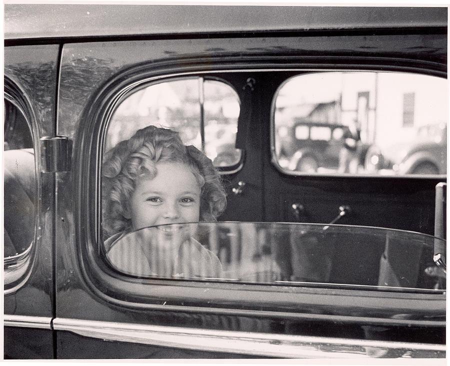 Child Actress Shirley Temple Arriving Photograph by Alfred Eisenstaedt