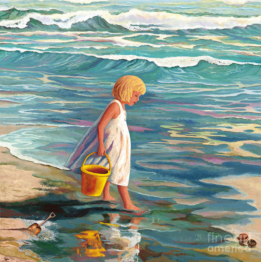 Child at the Shore by Jackie Case