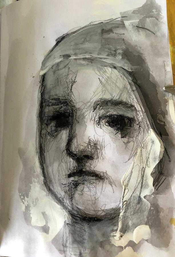 Black Painting - Child  by Debbie Callahan