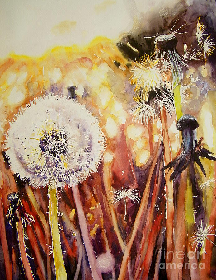 Childhood Painting - Childhoods Earliest Thoughts by Suzann Sines