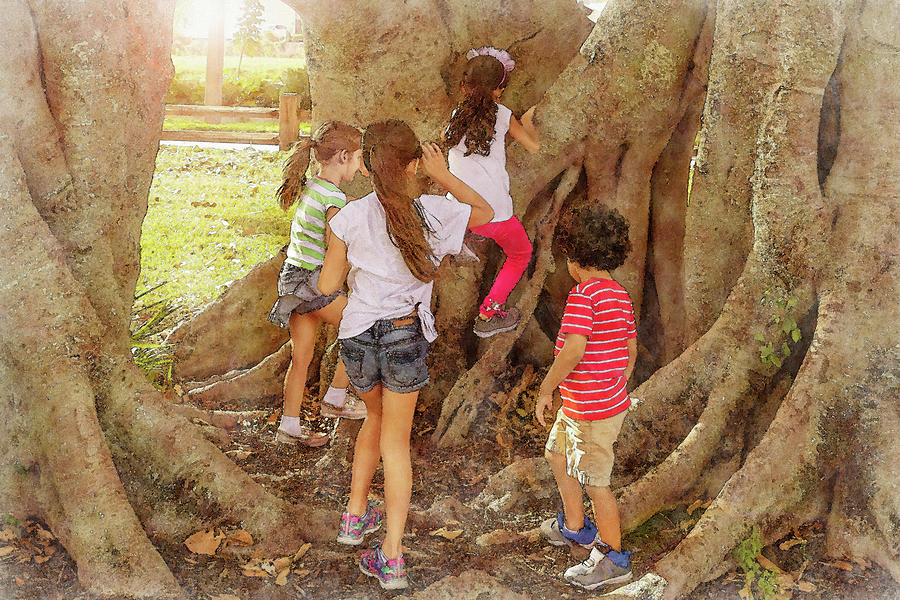 Children at play exploring nature. by Manny DaCunha