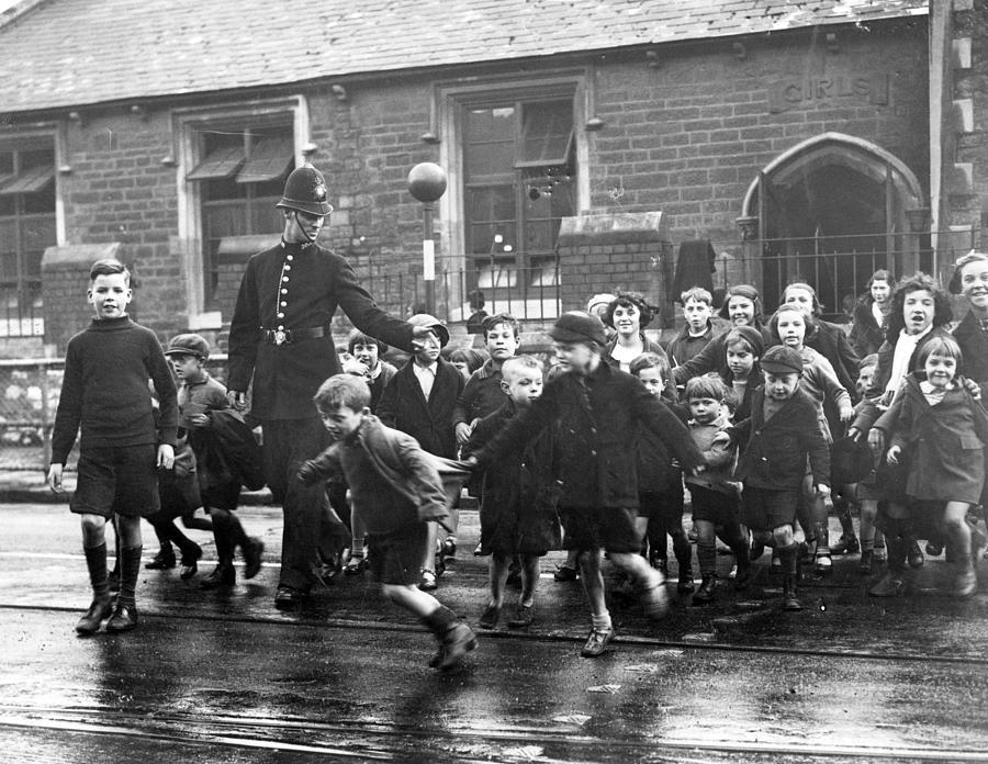 Children Crossing Photograph by Fox Photos