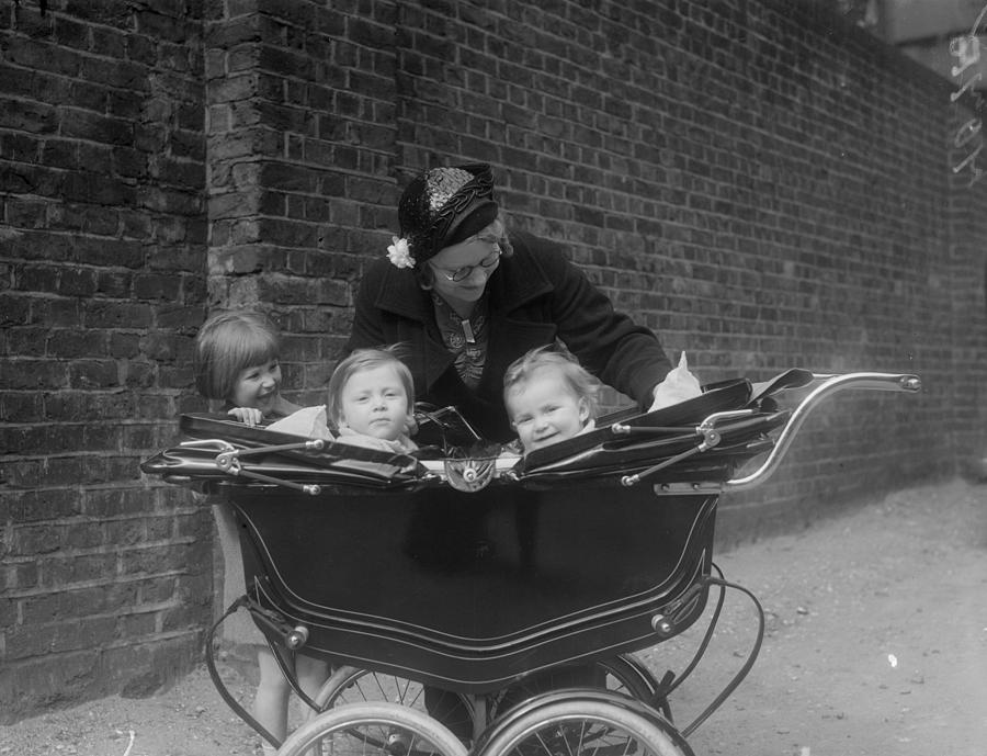 Children In Pram Photograph by London Express
