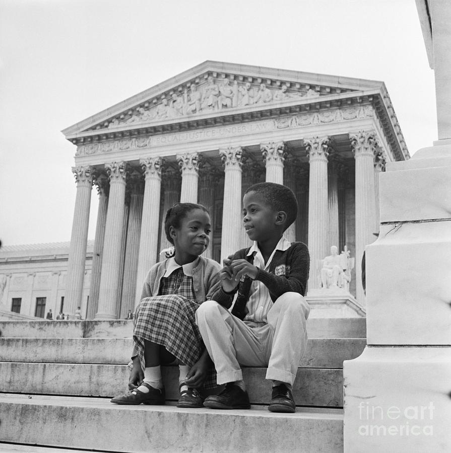 Children Outside Supreme Court Photograph by Bettmann