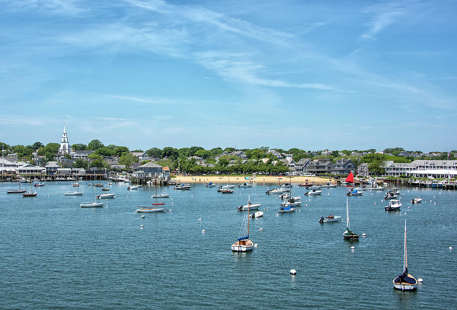 Childrens Photograph - Childrens Beach - Nantucket Harbor - Massachusetts by Brendan Reals