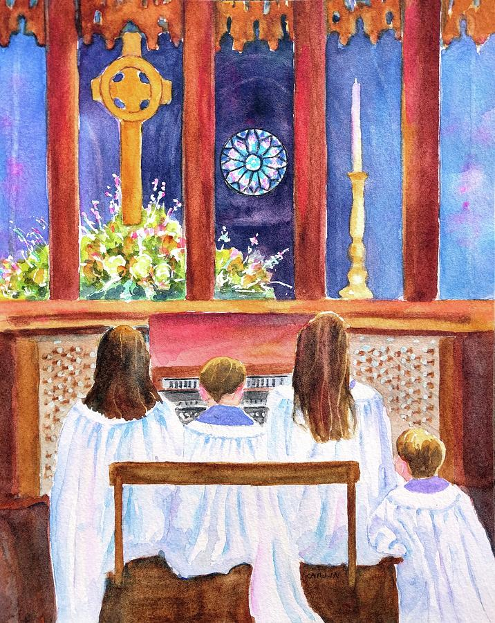 Children's Choir by Carlin Blahnik CarlinArtWatercolor