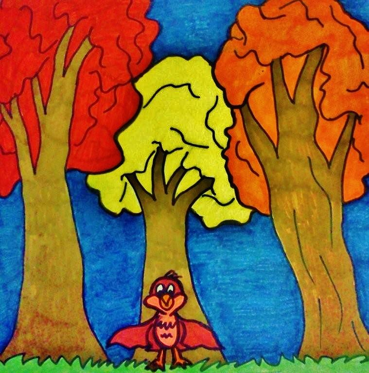 Childrens Fall Art Painting