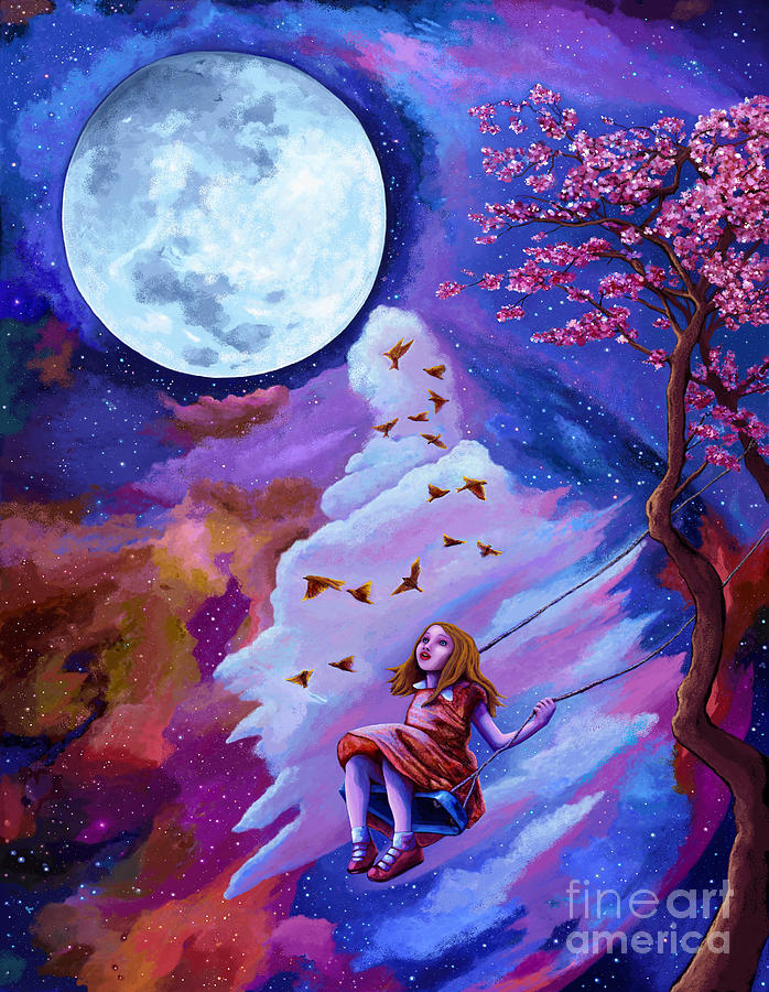 Child's Moonlight Dreams by Jackie Case