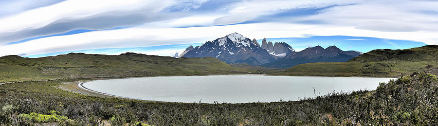 Chile - Laguna Amarga and Torres del Paine mountains by Jeremy Hall