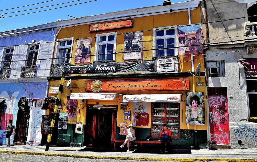Chile - Valpairosa - Street Scene by Jeremy Hall