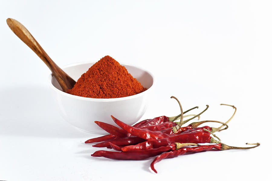 Chili Powder And Red Chilies Photograph by Subir Basak