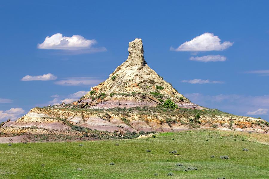 Terry Badlands Photograph - Chimney Rock by Todd Klassy
