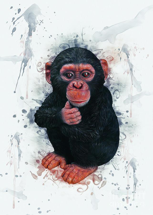 Chimpanzee Art by Ian Mitchell