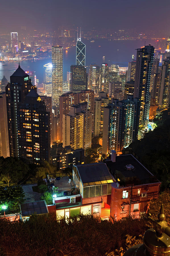China Hong Kong Island Glittering High Photograph by Fotovoyager