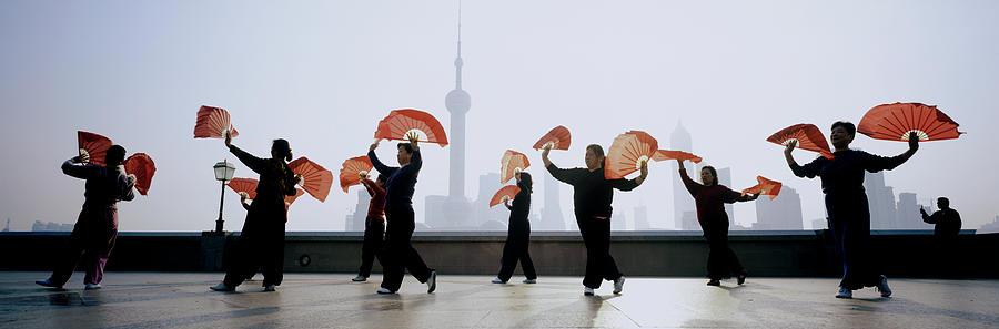 China, Shanghai, The Bund, Women Photograph by Jerry Driendl