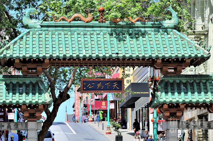 China Town Sf Dragon Gate Photograph