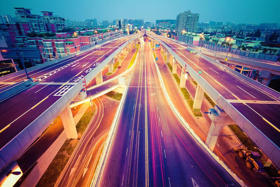 China Traffic Photograph by 4x-image