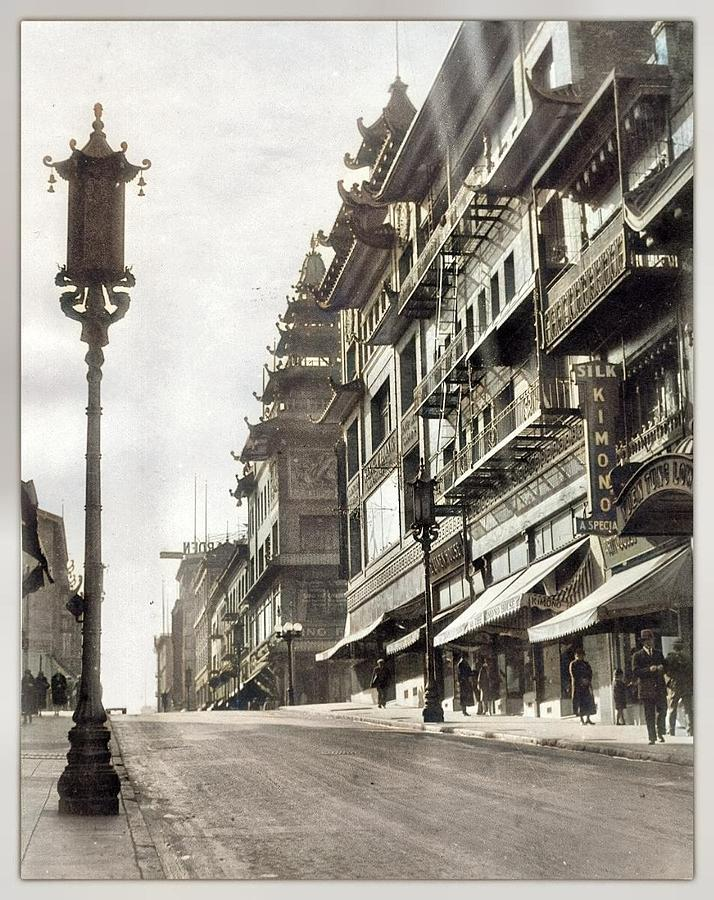 Chinatown San Francisco Palmer, Alfred T. 1929 Colorized By Ahmet Asar Painting
