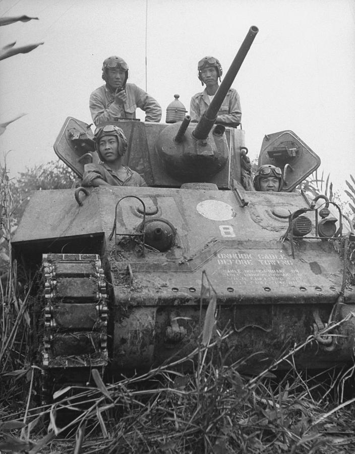 Chinese Army In Tank During Burma Campaign Photograph by William Vandivert