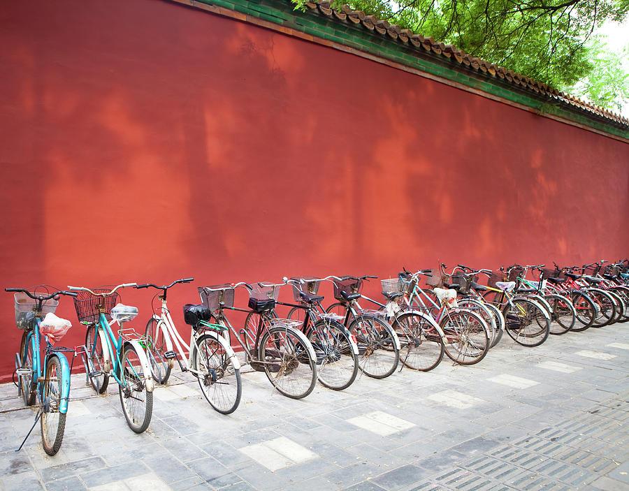 Chinese Bikes Photograph by Sam Diephuis