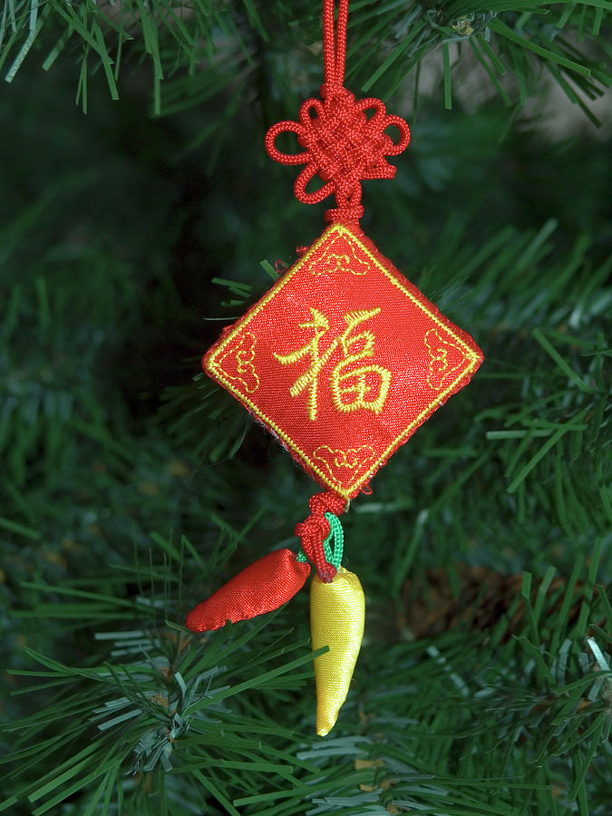 Chinese Christmas.Chinese Christmas Ornament