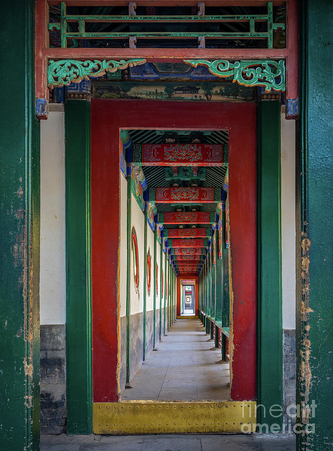 Asia Photograph - Chinese Corridor by Inge Johnsson