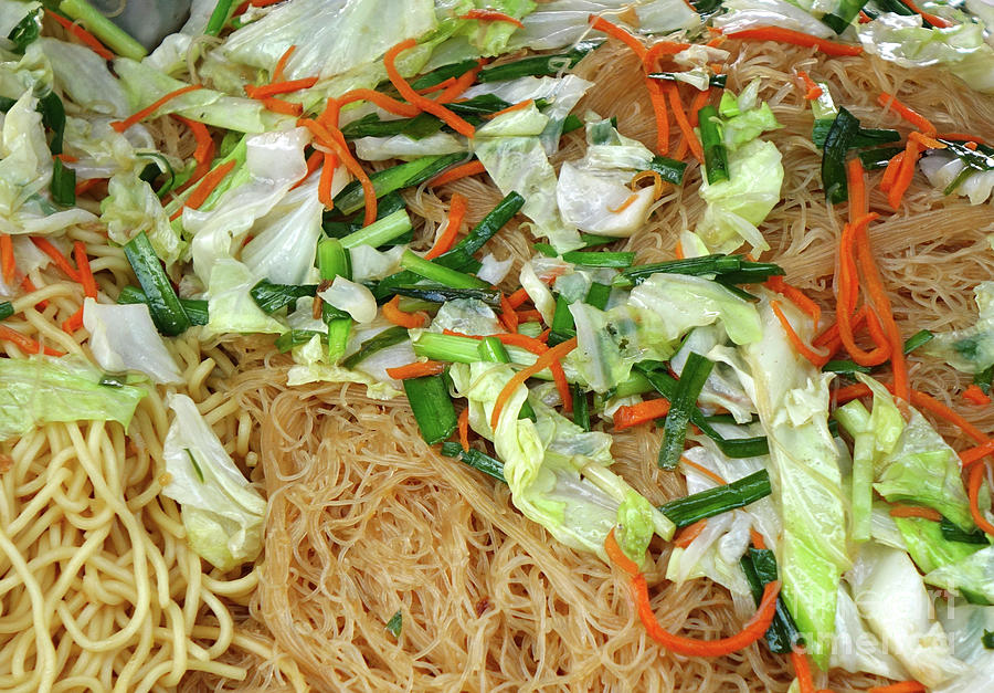 Chinese Fried Noodles with Vegetables by Yali Shi
