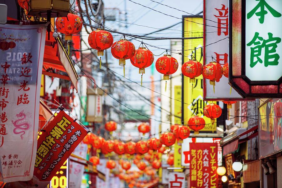 Chinese Lanterns In Chinatown Photograph by Alexander Spatari