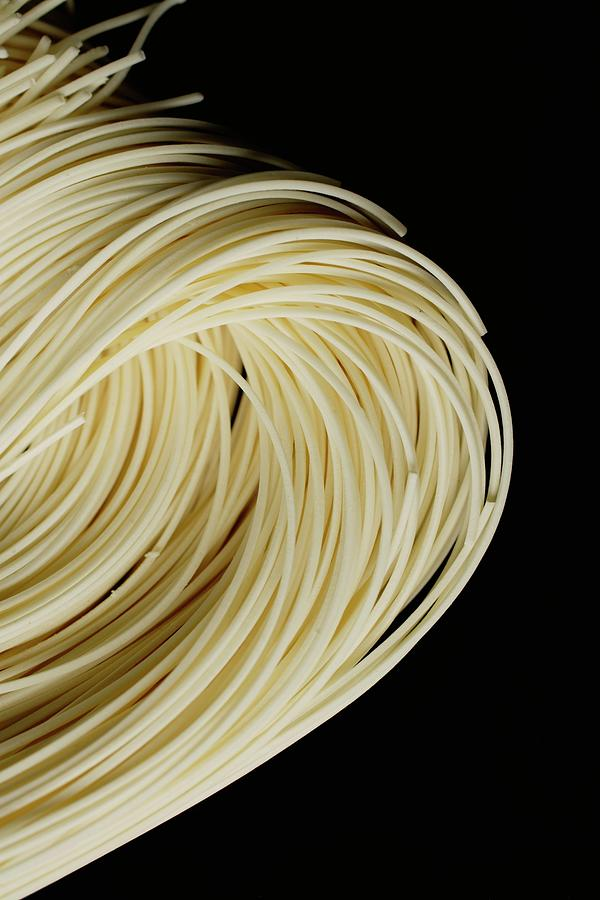 Chinese Noodles Against Black Photograph by Asia Images Group