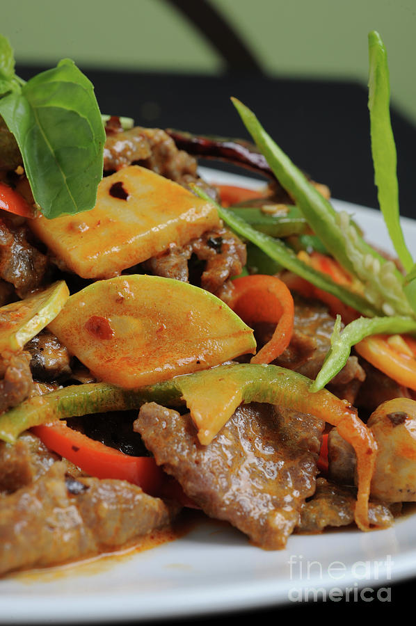 Food Photograph - Chinese Pan Fried Beef A4 by Ilan Amihai