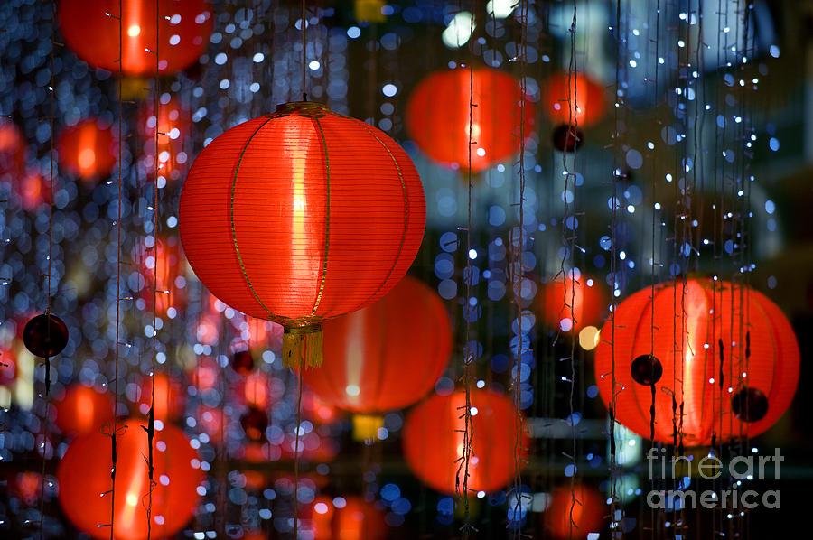 Shot Photograph - Chinese Paper Lantern Shallow Depth Of by Beltsazar