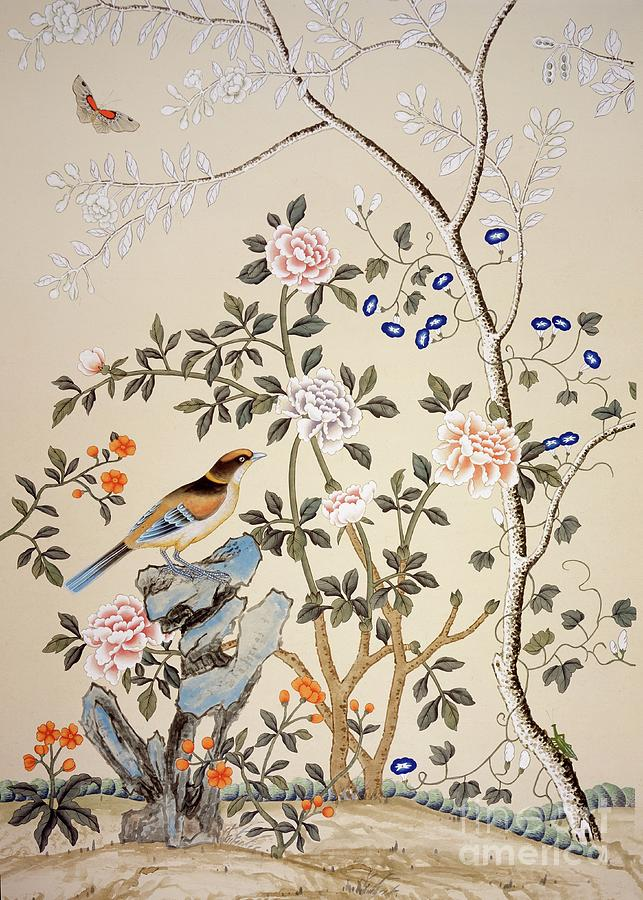 Chinoiserie Wallpaper Drawing by Heritage Images