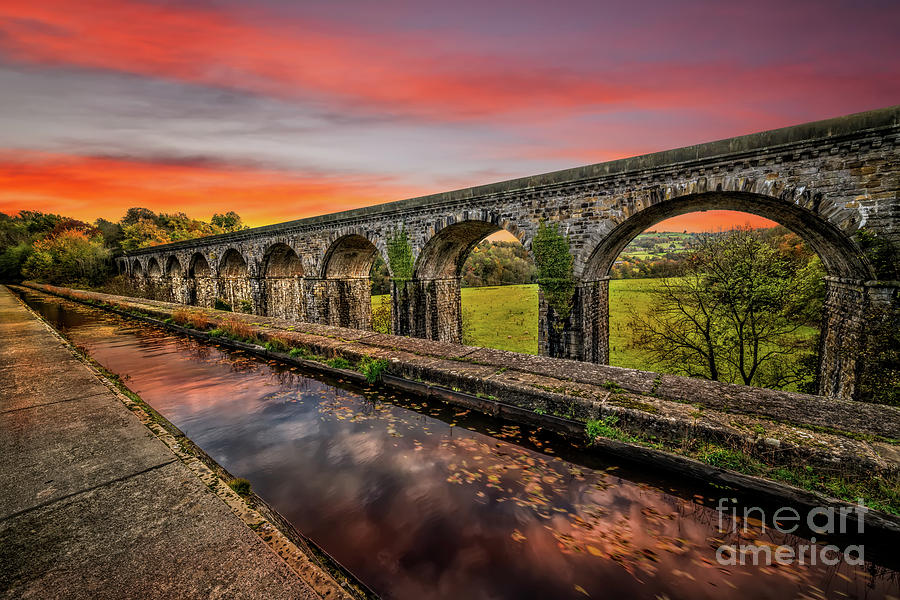Chirk Aqueduct Sunset by Adrian Evans