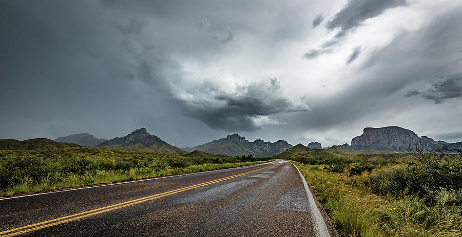 Chisos Mountain Storms by David Downs
