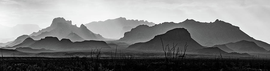 Chisos Mountains BW by David Downs