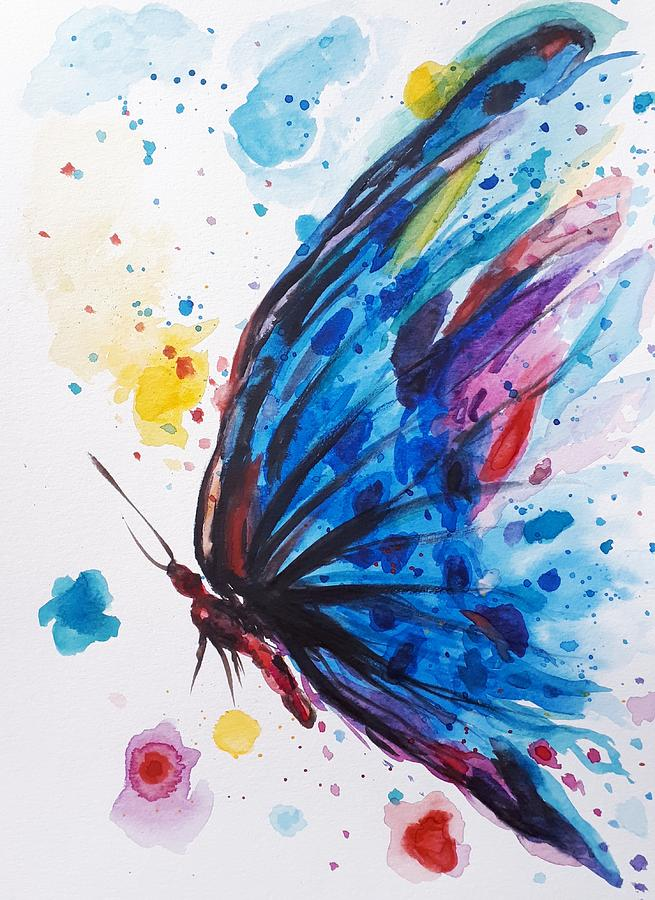 Butterfly Painting - Chloes Butterfly  by Abstract Angel Artist Stephen K