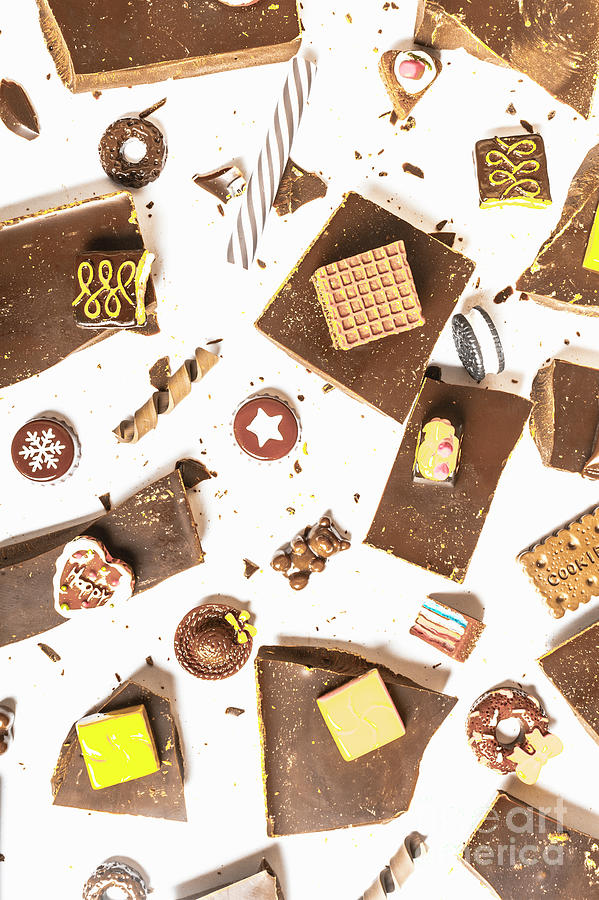 Confectionery Photograph - Chocolate Bar Break by Jorgo Photography - Wall Art Gallery