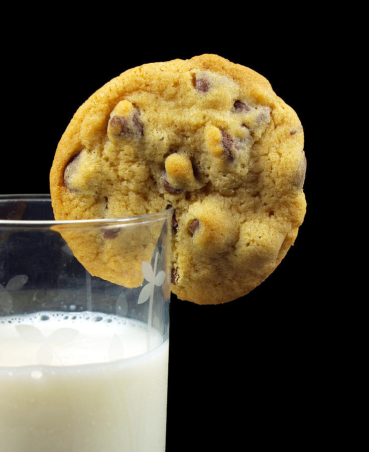 Chocolate Chip Cookie And Milk Photograph by Photo By Cathy Scola