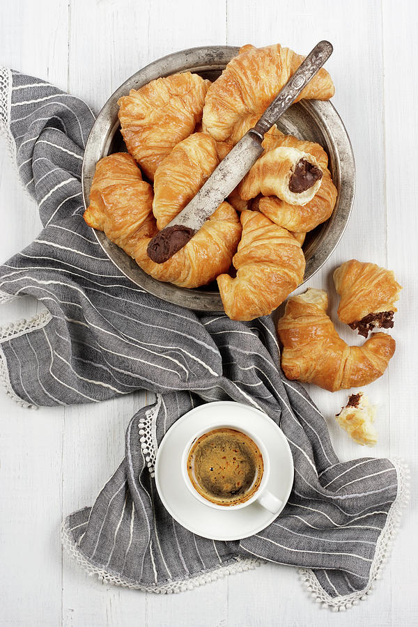 Chocolate Croissants Photograph by Claudia Totir