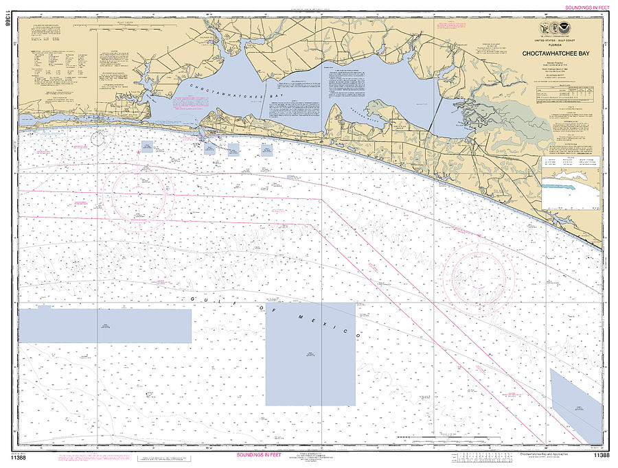 Choctawhatchee Bay NOAA Chart 11388 by Paul and Janice Russell