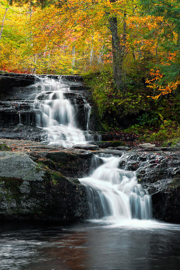 Allegheny Photograph - Choke Creek Falls by Michael Gadomski
