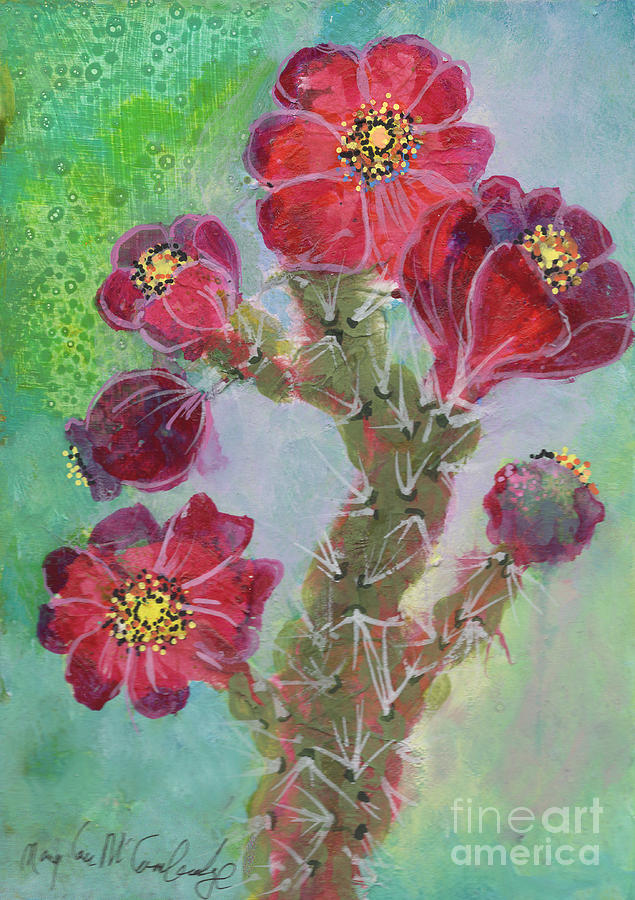 Cholla blooms by Mary Lou McCambridge