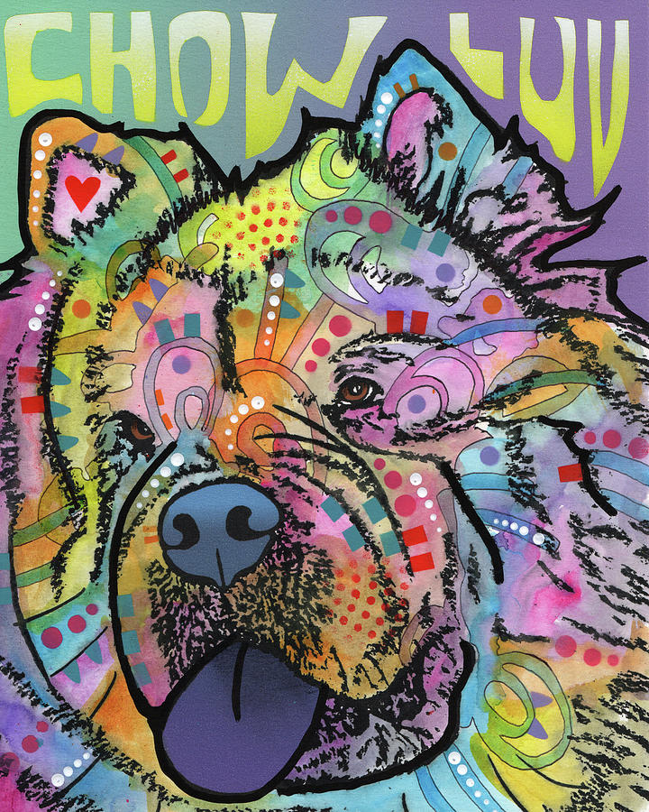 Domestic Dogs Mixed Media - Chow Love by Dean Russo